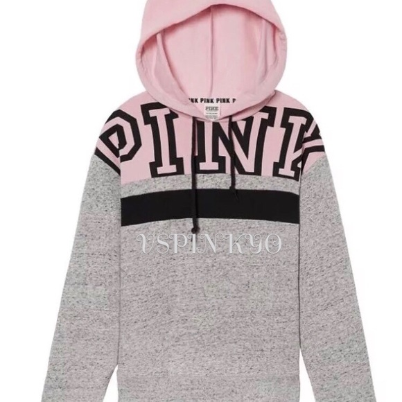 d96a1098c Victoria's Secret Pink Hoodie Pullover Colorblock NWT